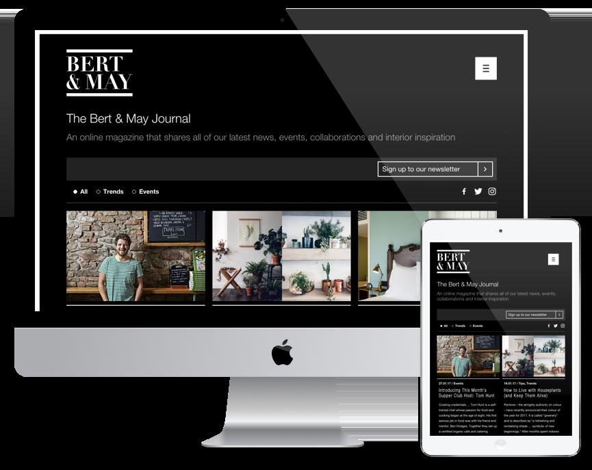 Bert & May Journal Screens