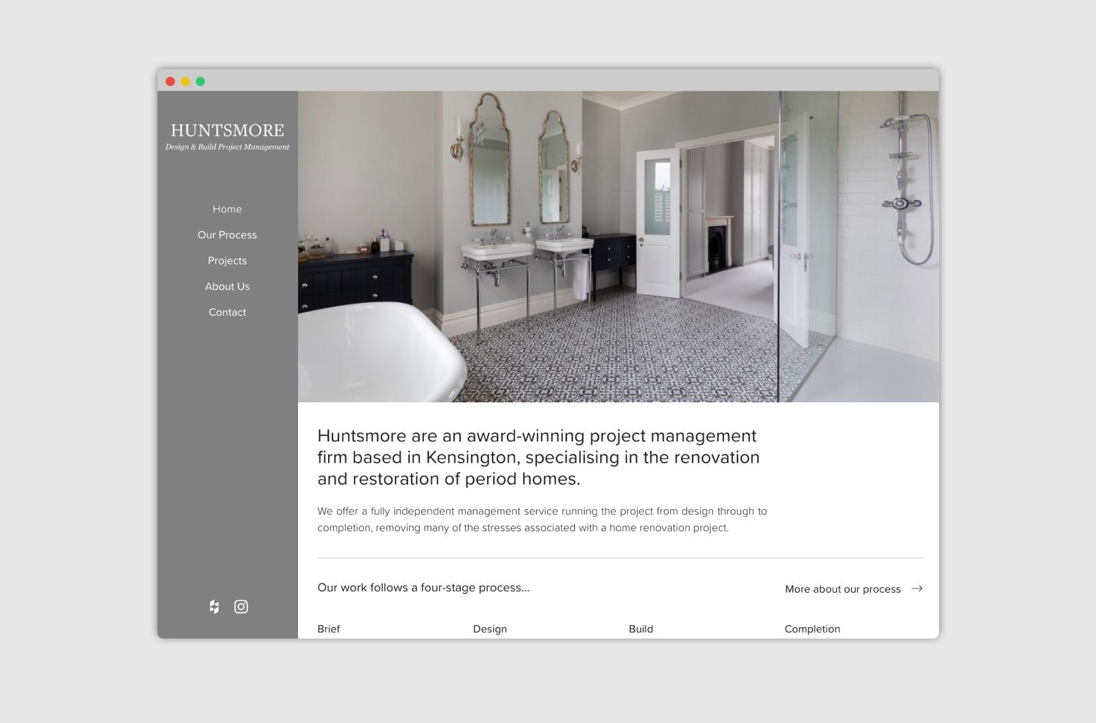 huntsmore.com screenshot