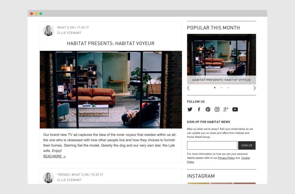 The Habitat Blog